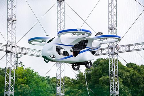 【動画】 NEC製、空飛ぶクルマが開発成功 !