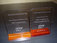 SAP Award Of Excellence 2011  「SAP Partner Solution Development Award」受賞