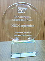 SAP APJ Partner Contribution Award 2013受賞